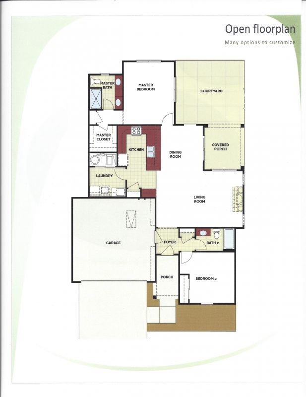 Cottage Home floor plan